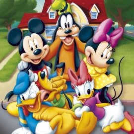 Posters Plakát, Obraz - MICKEY MOUSE - and friends, (40 x 50 cm).jpg