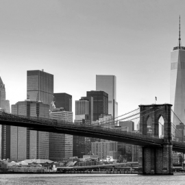 Posters Fototapeta New York - Brooklyn Bridge (B&W).jpg