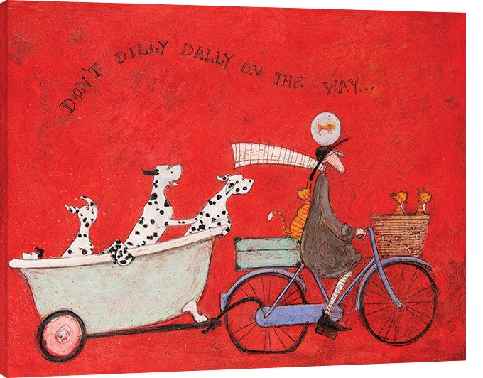 Posters Obraz na plátně Sam Toft - Don't Dilly Dally on the Way, (40 x 30 cm)