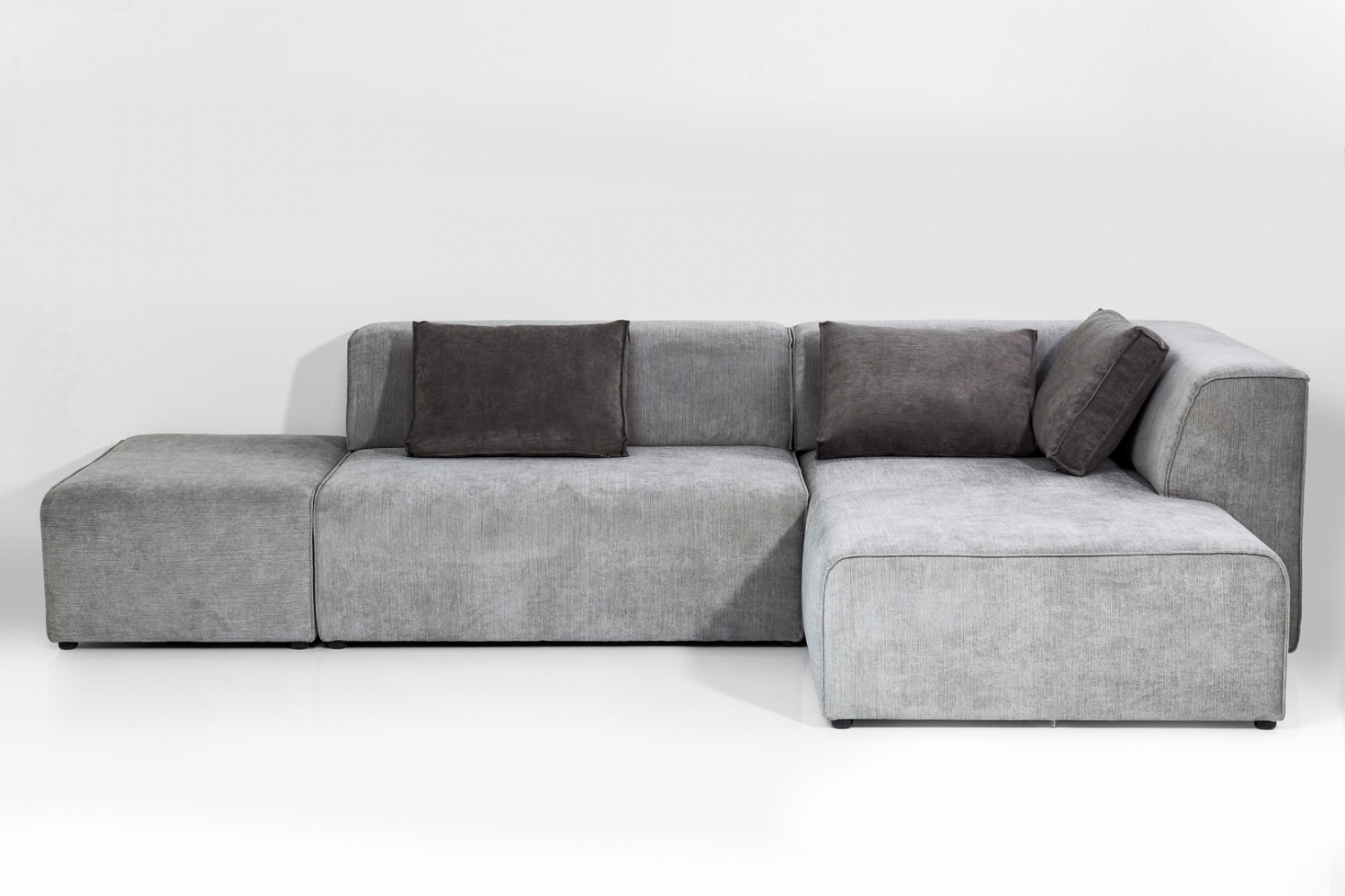 Sofa Infinity Chenille Ottomane Right Grey