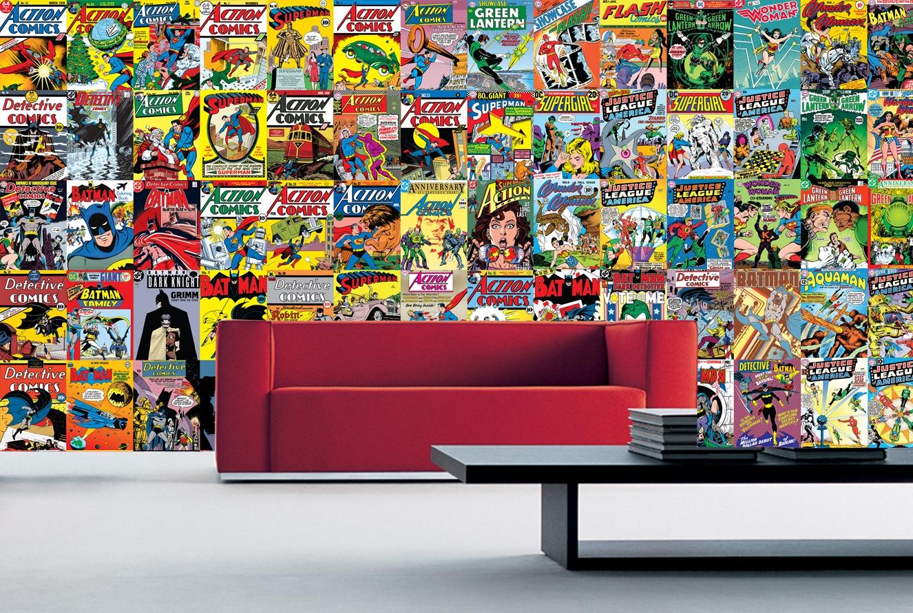 1wall kreativn kol 64 d l 37 5 x 27 5cm komiks. Black Bedroom Furniture Sets. Home Design Ideas