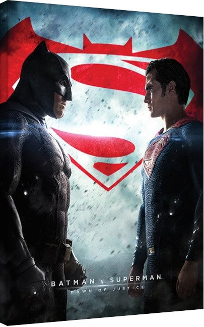 Posters Obraz na plátně Batman vs Superman, (60 x 80 cm)