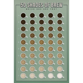 Posters Plakát, Obraz - 50 Shades of Brew - Which One Are You?, (61 x 91,5 cm)