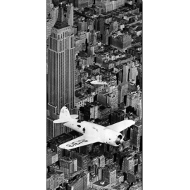 Posters Reprodukce Hawks airplane in flight over New York city, 1938 , (100 x 50 cm)