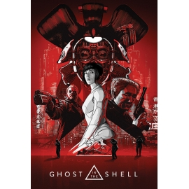 Posters Plakát, Obraz - Ghost In The Shell - Red, (61 x 91,5 cm)