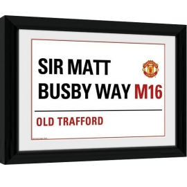 Posters Obraz na zeď - Manchester United - Street Sign