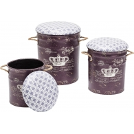 Stolička Storage Royal - set 3 ks