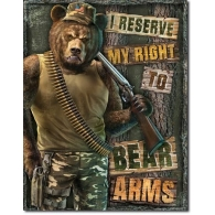 Posters Plechová cedule Right to Bear Arms, (30 x 42 cm)