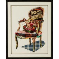 Obraz s rámem Art Chair Pin Up 90×72 cm