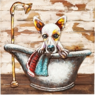 Obraz Iron Bathing Dog 80×80 cm