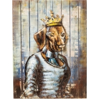 Obraz Iron Queen Dog 100×75 cm