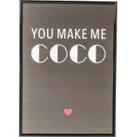 Obraz s rámem You Make Me Coco 42×30 cm