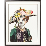 Obraz s rámem Art Lady Dog 90×72 cm