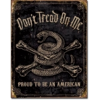 Posters Plechová cedule DTOM - Proud to be American, (40 x 31,5 cm)