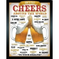 Posters Plechová cedule PIVO - Cheers Around The World, (31,5 x 40 cm)