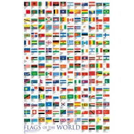 Posters Plakát, Obraz - Flags - Of The World 2017, (61 x 91,5 cm)