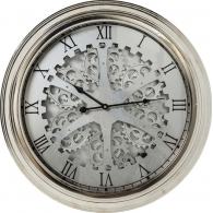 Wallclock Gear Silver